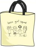Teen Girl Squad Tote Bag