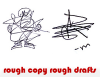 rough copy rough drafts