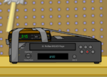 """Duct-taped an alarm clock to the VCR... See, I never would have thought of that!"""