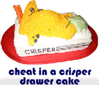 cheat in a crisper drawer cake