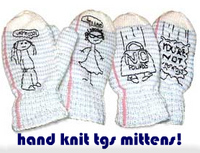 hand knit tgs mittens!