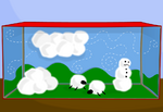 """The effects of cumulonimbus clouds on sheep, snowmen, and... cotton balls."""