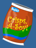 """Homestar, can you pass the soy crisps?"""